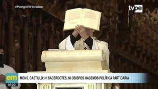 """Mons. Castillo: """"Ni sacerdotes, ni obispos podemos hacer política partidaria"""""""