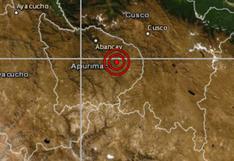 Apurímac: temblor de magnitud 4,8 fue sentido esta mañana en Chuquibambilla