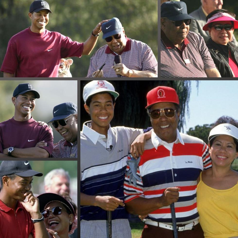 """Su padre lo formó. """"En nuestra familia, mi mamá era la mano, y mi papá era la voz"""", declaró alguna vez Tiger Woods. (Foto: Twitter)"""
