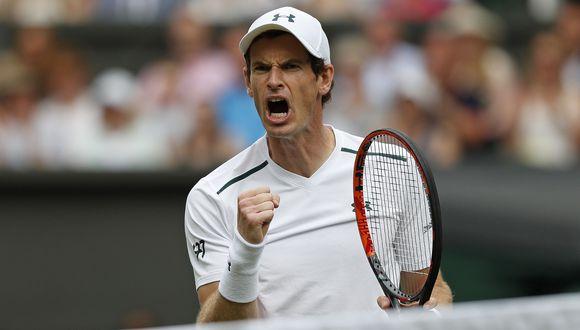 Andy Murray gana 2-0 a Alexander Bublik (por ESPN 2) por la primera ronda de Wimbledon 2017. El partido se suspendió un par de veces por lluvias. (Foto: AFP)