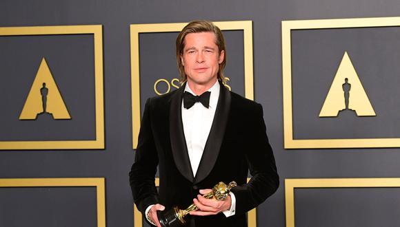 """Brad Pitt dedicó su premio a """"Quentin 'borracho' Tarantino"""" y dijo del cineasta que es """"original y único en su especie"""". (Foto: Agencia)"""