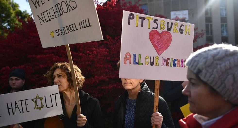 La protesta se generó en referencia a las críticas de que el mandatario no ha hecho lo suficiente para frenar los discursos de odio.   Foto: AFP