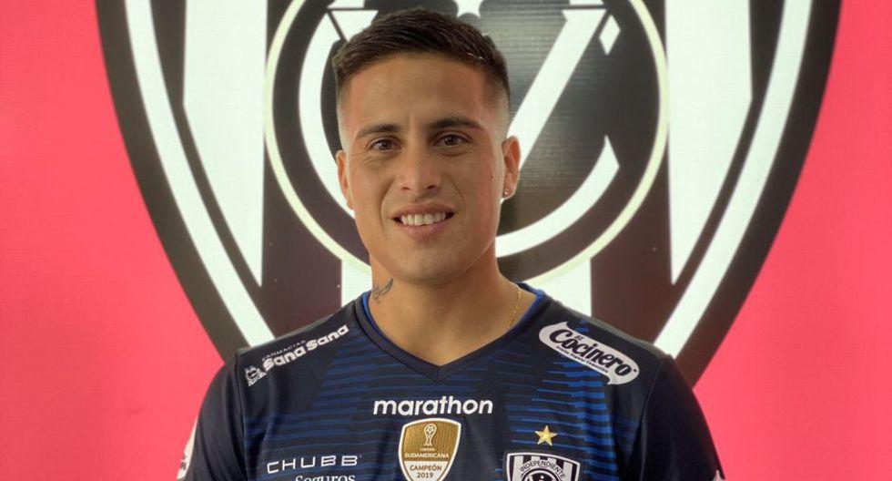 Cristian Ortiz con la camiseta de su nuevo club. (Foto: Independiente del Valle)