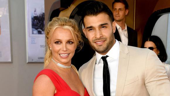 Britney Spears se comprometió con su pareja de cinco años, el actor y modelo Sam Asghari (Foto: Kevin WINTER / AFP)