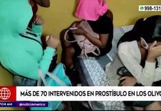 Los Olivos: 70 personas fueron intervenidas en un prostíbulo clandestino