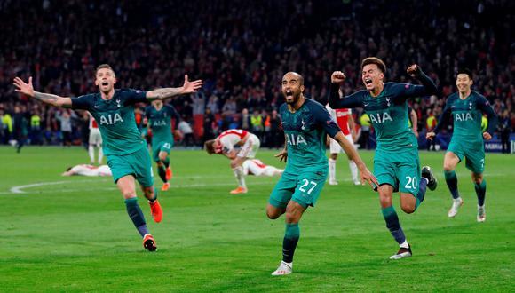 Con un gol agónico de Lucas Moura, Tottenham le dio vuelta y venció 3-2 al Ajax en Holanda, clasificando a la final de la Champions League, en la que enfrentará al Liverpool. (Foto: Reuters)