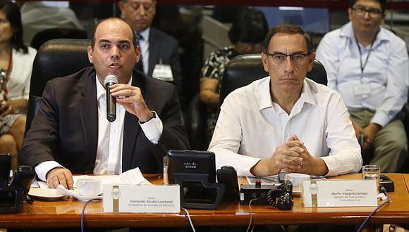 """Zavala: """"Vizcarra no ha renunciado, irá a la interpelación"""""""