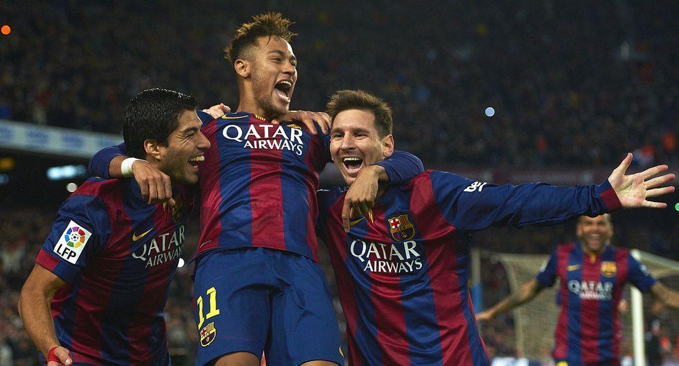 Neymar fue socio en ataque con Messi y Suárez en el Barcelona del 2011. (AP Photo/Siu Wu, File)