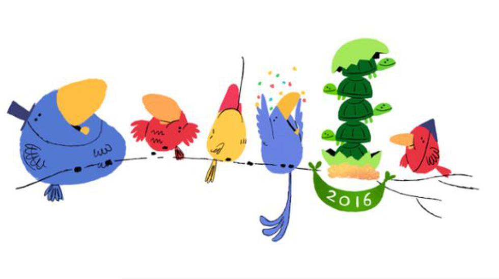 """Google presentó doodle """"sorpresa"""" por el Año Nuevo 2016 - 1"""