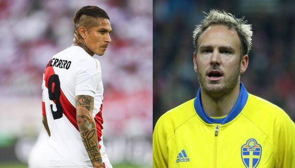 Paolo Guerrero fue criticado por Andreas Granqvist, capitán de Suecia, próximo rival de la selección peruana. (Fotos: EFE/AFP)