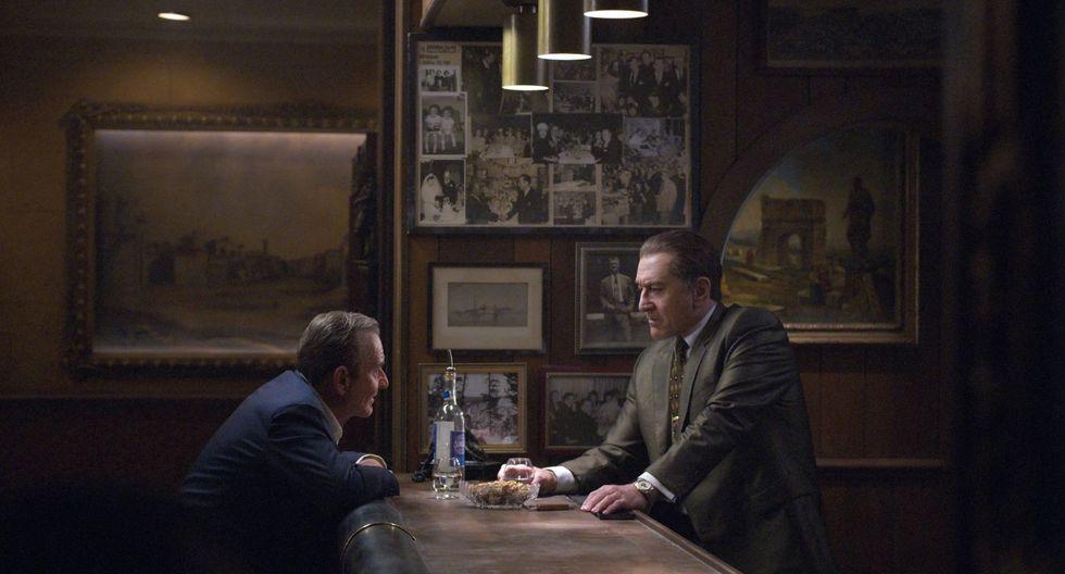 """Escena del largometraje """"The Irishman"""", de Martin Scorsese, en la que aparecen Robert De Niro (d) interpretando a Frank Sheeran, y Joe Pesci (i) como Russell Bufalino. (Foto: Difusión)"""