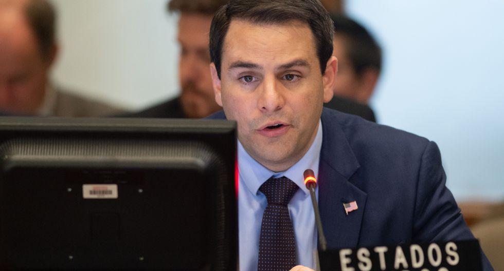 Carlos Trujillo, embajador de Estados Unidos ante la OEA, calificó de inaceptable que Venezuela amenace la seguridad y tranquilidad de la región. Foto: Archivo de AFP