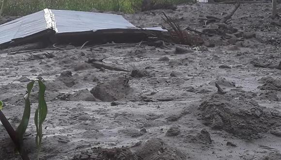 Los deslizamiento dejaron siete familias afectadas. (Foto: Carlos Peña)