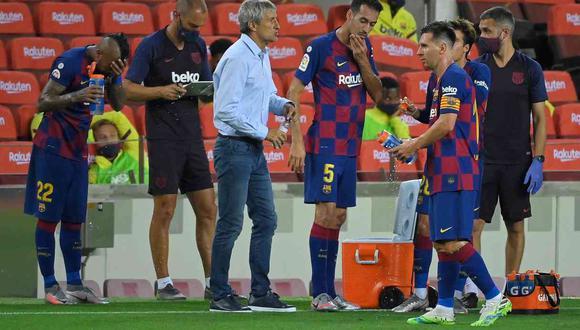 Quique Setién habló sobre el cierre de temporada en LaLiga para el Barcelona. (Foto: AFP)