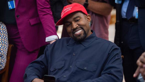Kanye West anunció el 4 de julio que está desafiando a Donald Trump para la presidencia de Estados Unidos en 2020. (Foto: AFP / SAUL LOEB).