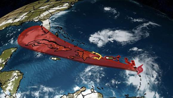 La tormenta tropical Grace podría alcanzar Florida, en Estados Unidos. (@weatherchannel / Twitter).