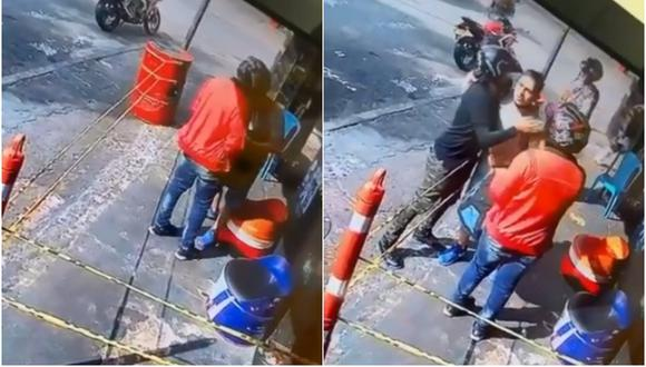 Iban a asaltar a su amigo, pero lo reconocieron cuando se quitó la mascarilla. (Foto: @MariasRodriguez / Twitter)