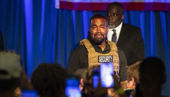 Kanye West hizo su primera aparición en la campaña presidencial de Estados Unidos en North Charleston. (Lauren Petracca Ipetracca / The Post And Courier a través de AP).