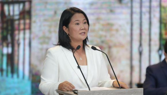 La candidata presidencial de Fuerza Popular, Keiko Fujimori, dio a conocer sus principales propuestas en salud y manejo de la pandemia del COVID-19   Foto: Hugo Pérez / @photo.gec