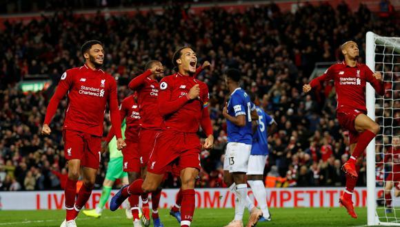 El belga Divock Origi marcó el gol del triunfo para el Liverpool sobre Everton. (Foto: Reuters).