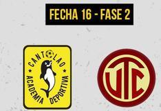 UTC - Cantolao: dónde ver en TV y hora del partido por la Liga 1
