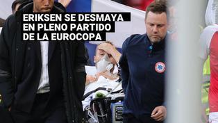Eriksen se desploma de forma sorpresiva en pleno partido de la Eurocopa
