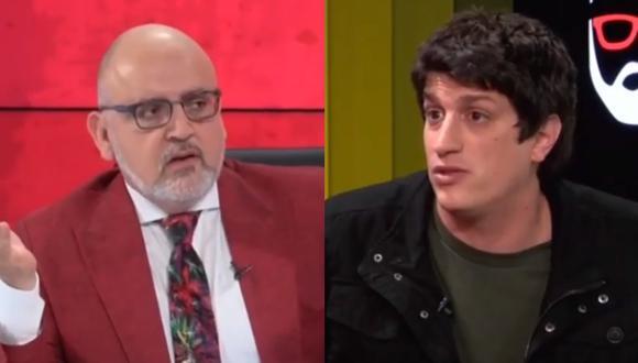 Stefano Tosso durante los descargos que ofreció al programa de Beto Ortiz. Foto: Willax TV.