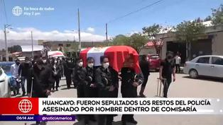 Huancayo: dan el último adiós a policía asesinado en comisaría de San Isidro