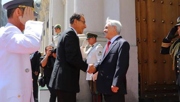 El presidente Martín Vizcarra y varios ministros del Perú se reunieron con Sebastián Piñera y el gabinete de Chile en el Palacio de La Moneda. (Foto: Presidencia Perú)
