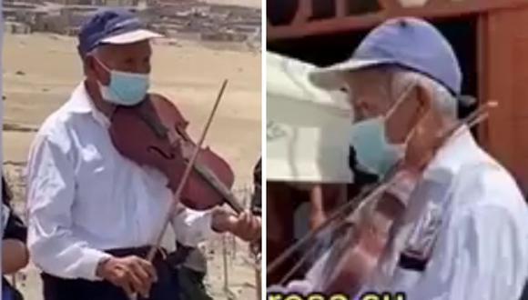 El video el violinista despidiendo a su amada ha cautivado a cientos de usuarios de TikTok. (Foto:titofly4 | TikTok)