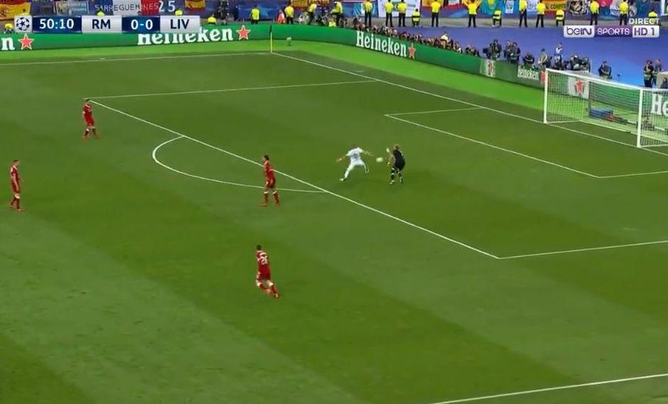 Real Madrid vs. Liverpool: error de Karius y  gol de Karim Benzema para el 1-0   VIDEO