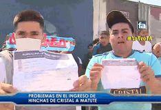 Alianza vs Cristal: Hinchas 'celestes' denuncian que no pudieron entrar al estadio pese a tener sus entradas