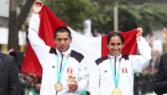 Los maratonistas Cristhian Pacheco y Gladyz Tejeda ganaron las primera medallas de oro. (Foto: Gian Ávila / GEC)