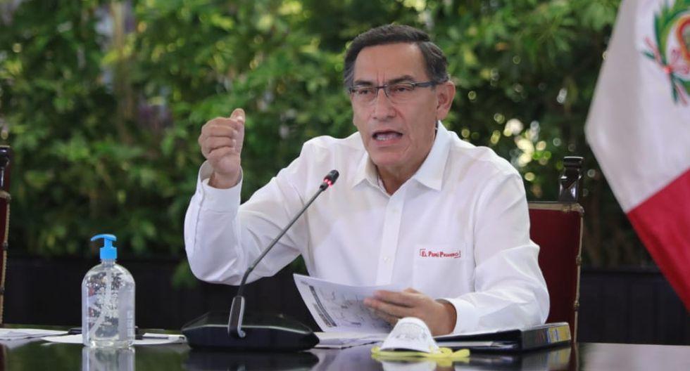 El presidente Martín Vizcarra anunció que los domingos ninguna persona podrá circular para realizar compras o ir a bancos. (Foto: Difusión)