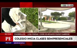 Chorrillos: colegio inició hoy clases semipresenciales