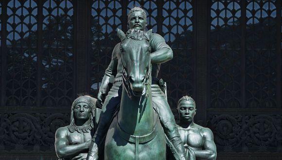 Museo de Historia Natural de de Nueva York retirará estatua de Theodore Roosevelt por su simbología racista (Foto: TIMOTHY A. CLARY / AFP).