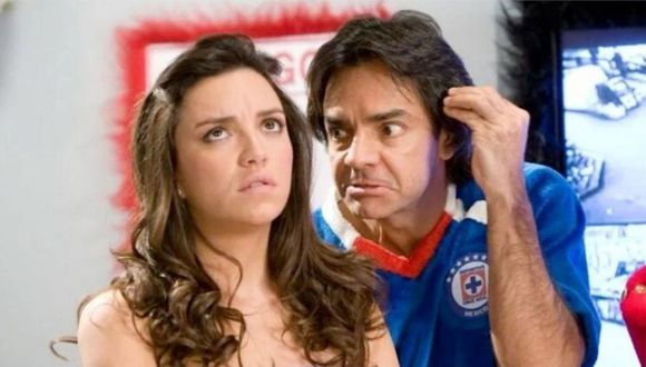 Bibi junto a su padre Ludovico P. Luche en uno de los tantos capítulos de la serie cómica que la hizo conocida (Foto: Televisa)
