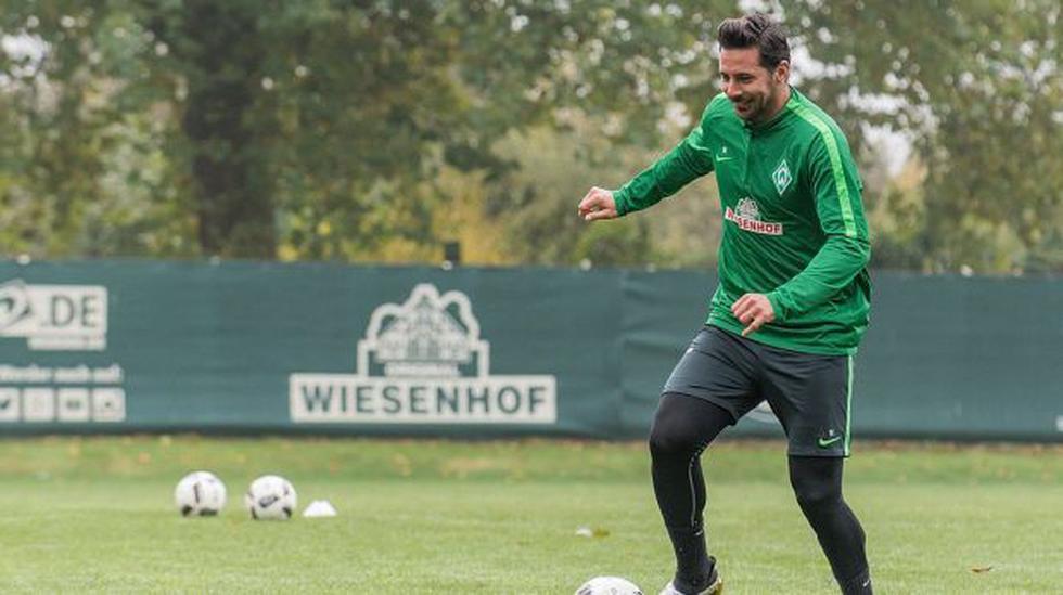 Claudio Pizarro alista su debut con Werder Bremen en Bundesliga - 1