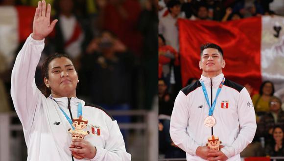 Yulimar Bolivar y Yuta Galarreta, medallistas en los Panamericanos. (Foto: Lima 2019)
