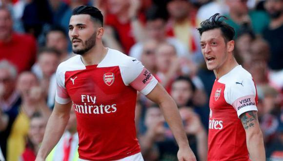 Los futbolistas se perdieron el debut del Arsenal en la Premier League: 1-0 sobre Newcastle. (Foto: Reuters)