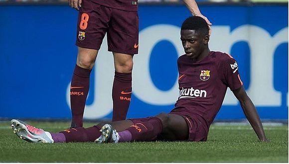Barcelona: Dembelé otra vez se lesionó y será baja por un mes