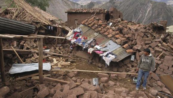 Cusco: 70 casas inhabitables y 575 damnificados por sismo