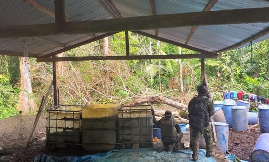 Agentes antidrogas de la PNP lograron destruir un laboratorio de droga e incautar armas de fuego. (Foto: Daniel Carbajal)