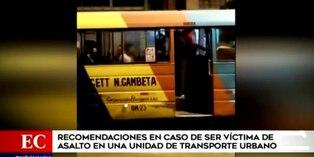 Estas son las recomendaciones en caso de un asalto y balacera en bus de transporte público