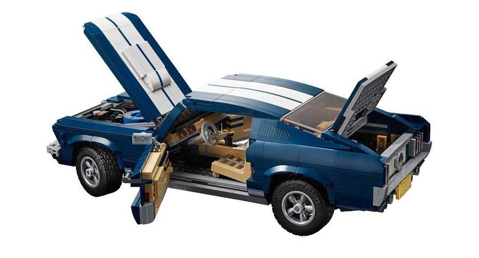 El Ford Mustang Fastback de Lego saldrá al mercado a partir del 1 de marzo a un precio de US$ 147. (Fotos: Lego).