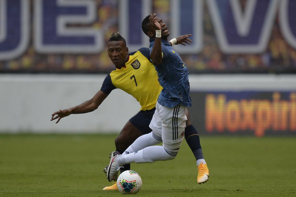 Ecuador - Colombia por Eliminatorias Qatar 2022. (Foto: AFP)