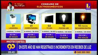 Reclamos por quinto aumento en recibos de luz en lo que va del año