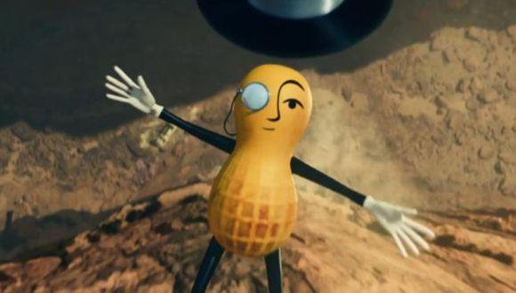 En un comercial difundido en redes sociales previo al Super Bowl LIV, se aprecia a Mr. Peanut involucrado en un trágico accidente automovilístico. (Foto: YouTube/Mr. Peanut)