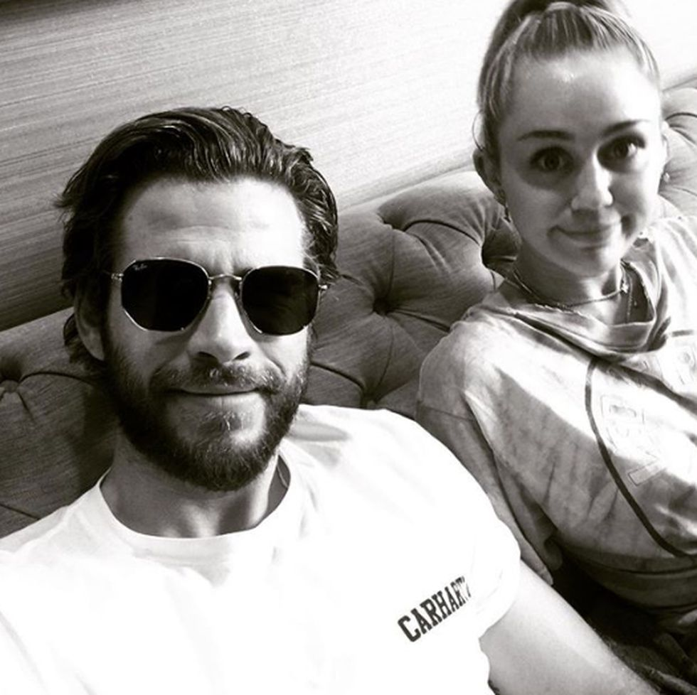 Liam Hemsworth y Miley Cyrus. (Foto: Instagram)
