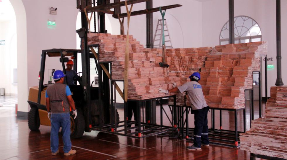 Así se montó la chacana de 15 toneladas que expone el MALI - 3